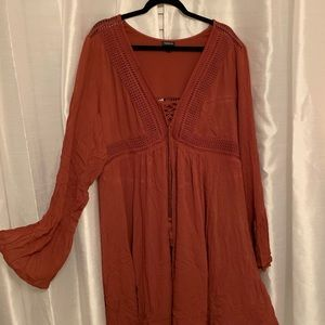 Brick Red/Orange Torrid Boho Dress